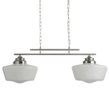 Satin Silver 2 Light Bar Pendant - 8078-2SS