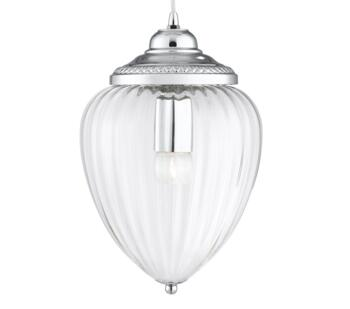 Chrome 1 Light Pendant Ceiling Light - 1091CC