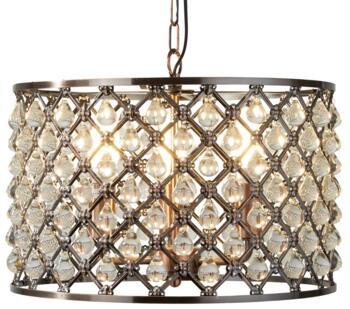 Antique Copper 3 Light Drum Pendant - 7813-3CU