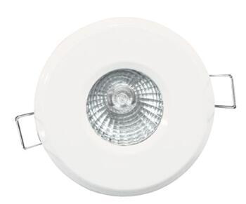 Shower Downlight IP65 GU10 50W 240V Mains Voltage  -  White