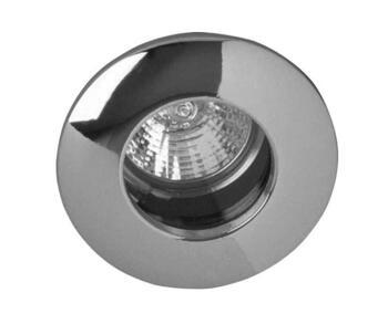 IP65 Die Cast Shower Downlight 12V MR16 Low Volt - Satin Silver (Brushed Satin Chrome)