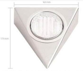 Mini-Circ Triangular Downlight Undershelf -  Stainless Steel
