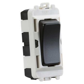 Matt Black Kitchen Appliance Grid Switch Modules - Plain - Unprinted