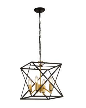 Matt Black Hexa 4 Light Ceiling Pendant  - 4784-4BK