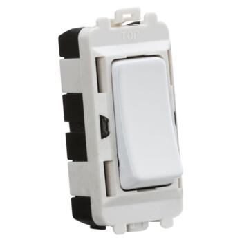 Matt White Grid Light Switch Modules	 - 2 Way