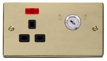 Polished Brass Locking Socket - With Black Interior