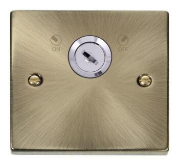Antique Brass Locking 20a DP Switch - Isolator
