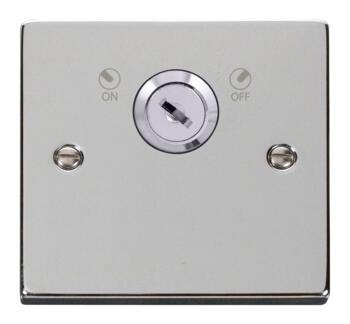 Polished Chrome Locking 20a DP Switch - Isolator