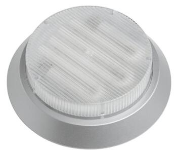 Mini-Circ Surface Mount Base Undershelf Downlight - Satin Silver