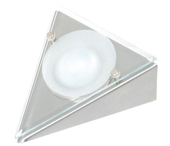 12V Low Voltage Triangle Undershelf Downlight - Stainless Steel