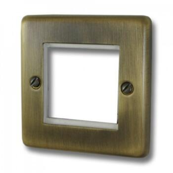 Antique Brass Data Module Plate - Single