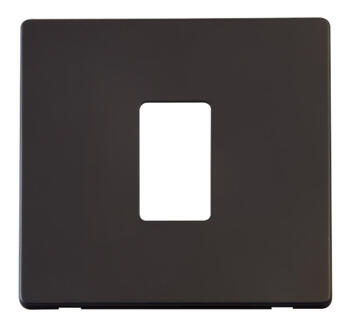 Screwless Matt Black Build Your Own Light Switch - 1 gang plate and cover
