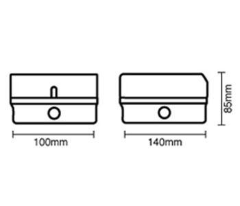 IP65 Exterior Accessory Box - 1 Gang Single - Grey