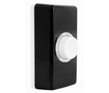 Illuminated Bell Push - Interchangeable Covers - Black and White Covers