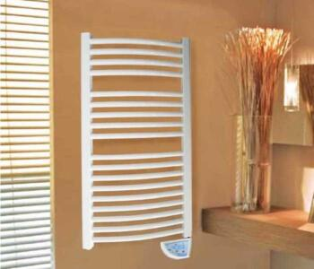 Ladder Towel Rail - 500W Electric Towel Radiator - White Finish