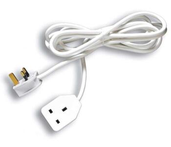 Extension Lead - 13A 1 Gang Single - White - With 3m Long Lead
