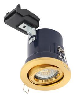 Satin Brass Fire Rated Downlight Adjustable GU10 - Adjustable GU10 Fitting