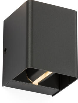 Anthracite Adjustable Beam IP65 Up & Down LED Wall Light - WAD12A