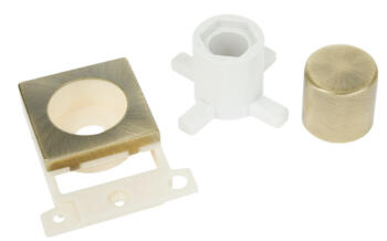 Mini Grid Antique Brass Dimmer Module Mounting Kit - Mount