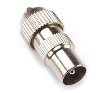 TV Coaxial Aerial Plug - Metal Finish - Male - Coax Plug