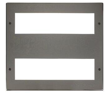 Large Media Front Plate - 16 Module Plate - Black Nickel