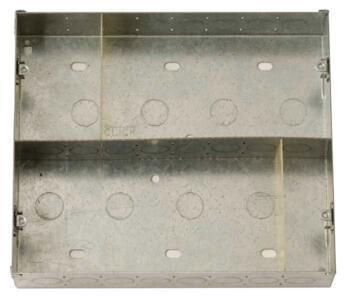 Media Plate 47mm Deep Backbox for 16 Module Plate - 16 Module Backbox