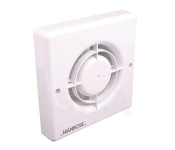 """Bathroom Extractor Fan with Timer - 100mm (4"""") - White"""