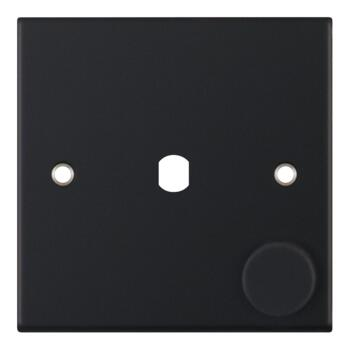 Slimline Matt Black Empty/Build Your Own Dimmer Switch - 1 Gang Empty Plate