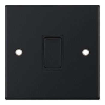 Slimline Matt Black 20A DP Isolator Switch - Without Neon