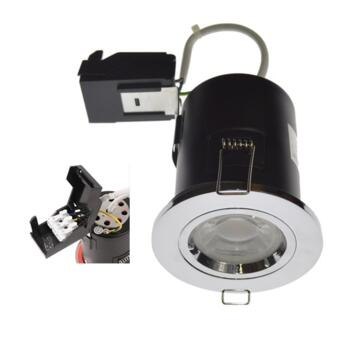 Polished Chrome Fixed Fire Rated Downlight GU10 - Fitting Only