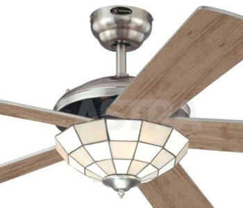 Westinghouse comet tiffany ii ceiling fan light 52 brushed nickel aloadofball Gallery