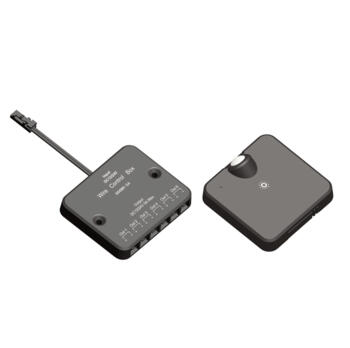 Wireless PIR sensor & receiver kit with touch dimmer - Black