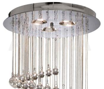Spiral Ceiling Light - 5 Light Halogen 7743CC - Chrome Finish
