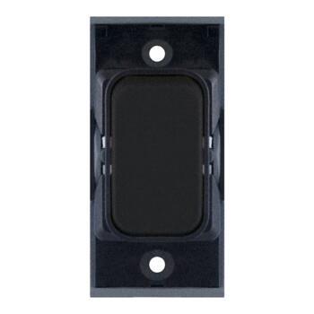 Slimline Matt Black Grid Switch Modules - 2 Way 10A Switch