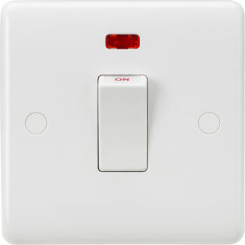 White 45A 1 Gang DP With Neon White Rocker Switch - CU8331NW