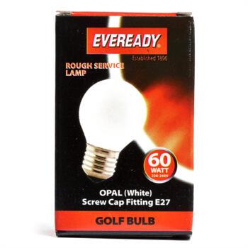 60W ES Golf Light Bulb Lamp - Pack of 1
