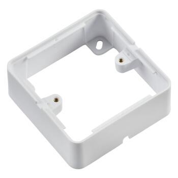 Matt White Surface Back Box - Single