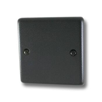 Hammered Matt Black 1G Blank Plate - 1 Piece