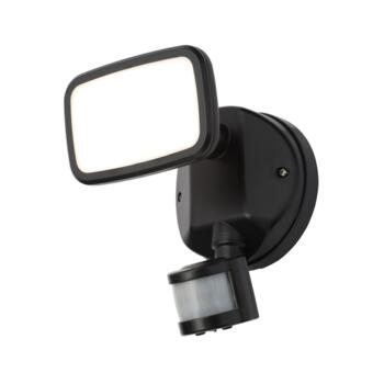 Matt Black 10W IP65 PIR Spotlight  - ZN-35687-BLK
