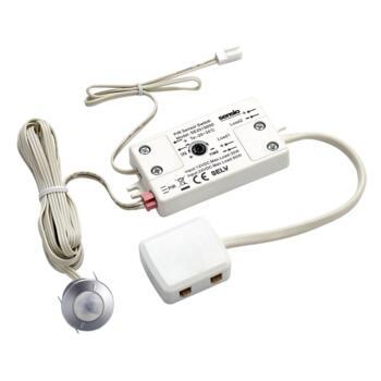 PIR sensor for kitchen lighting 12/24v DC - Silver