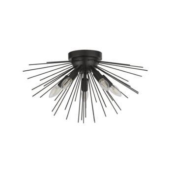 Sputnik 5 Light Semi-Flush Pendant - Matt Black - 6305-5BK