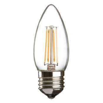 Candle Filament Lamp LED Non Dimmable 4w ES - ES E27 screw cap