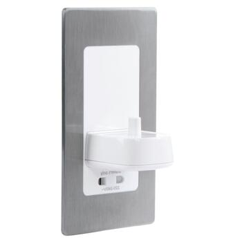 Electric Toothbrush Wall Charger Shaver Socket Brushed Steel - Brushed Steel