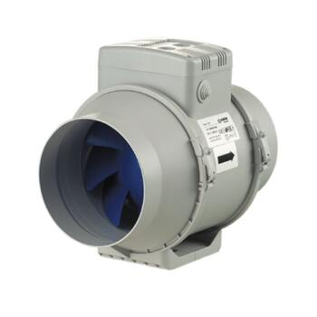 "Turbo Inline Fan Mixed Flow Extractor 100mm 4"" - 100mm Standard 220m3/hr 61L/s"