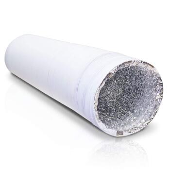"Heavy Duty Aluminium Foil Flexible PVC Ducting - 4"" 100mm x 3m Pack"