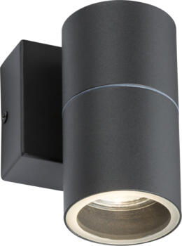 Anthracite IP54 GU10 Fixed single wall Light - OWALL1A