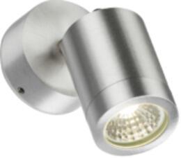 Aluminium 230V IP65 3W LED Adjustable Wall Light - LWALL3A