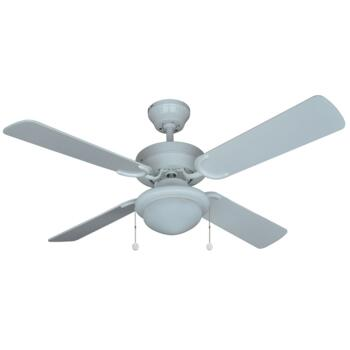 """Moreno All White Ceiling Fan with Light  - 42"""" (1070mm)"""
