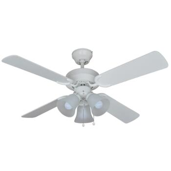 """Montana All White Ceiling Fan with Light - 42"""" (1070mm)"""