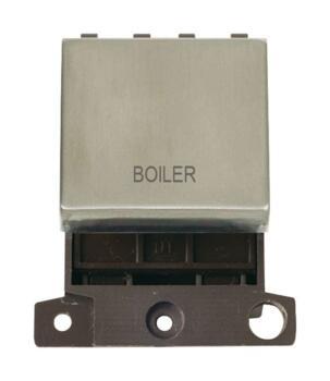 Mini Grid Stainless Steel 20A DP Ingot Switch - Boiler